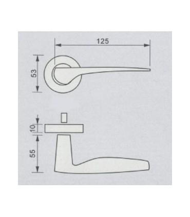 Poignée béquille série 2012 technique