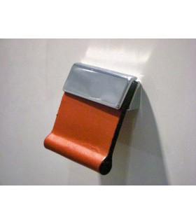 Bouton de meuble cuir carré