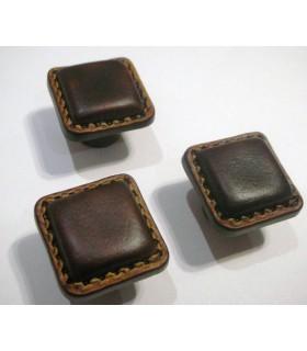 Bouton de meuble résine façon cuir