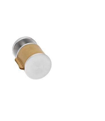 Poignée bouton fixe série Skin cuir camel