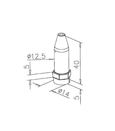Fixation basse pour câble Ø 2.5 mm