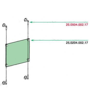 Fixation pivotante pour câble Ø 2.5 mm