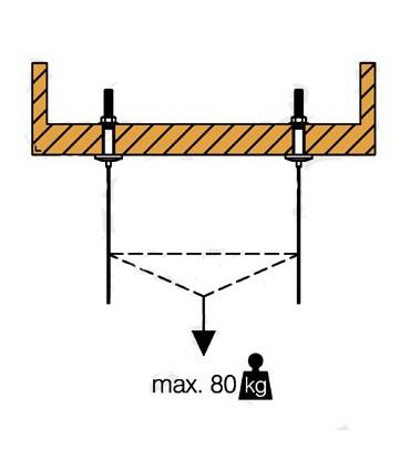 Fixation plafond pour câble Ø 2.5 mm