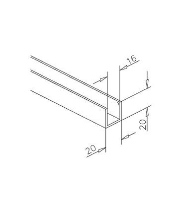 Profil aluminium de 20 x 20 x 20 mm