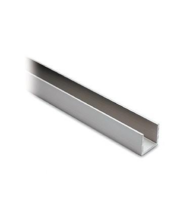 Profil aluminium 20 x 20 x 20 mm anodisé argent mat