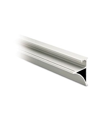 Profil aluminium support tablette chromé brillant