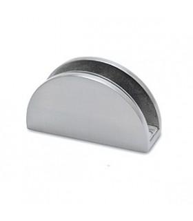 Support demi rond pour verre d'épaisseur 6 à 15 mm