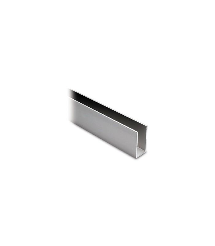 Profil aluminium de 40 x 20 x 40 mm anodisé argent mat