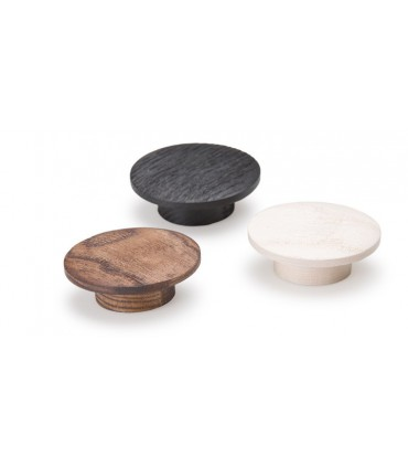 Bouton de meuble en bois naturel Echo 0166 par Viefe