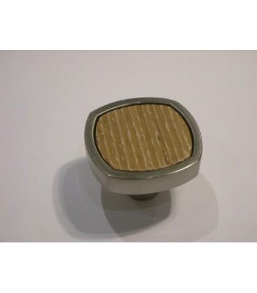 Poignée bouton bois et métal série Quattro par Viefe