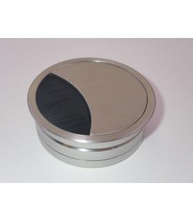 Passe câble aluminium effet inox brossé