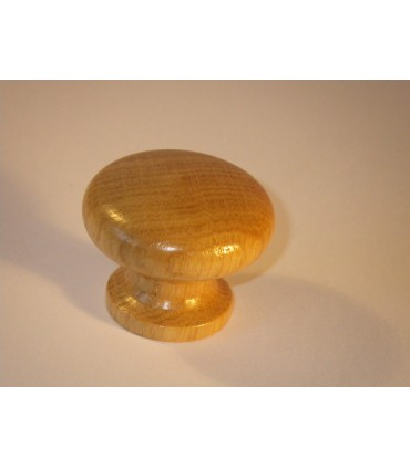 Bouton bois chêne vernis tansparent