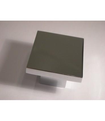 Poignée bouton serie Square chromé