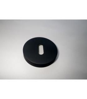 Rosace entrée de clé L Téflon noir Ø 50 mm