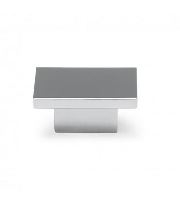 Poignée bouton série Square chromé brillant