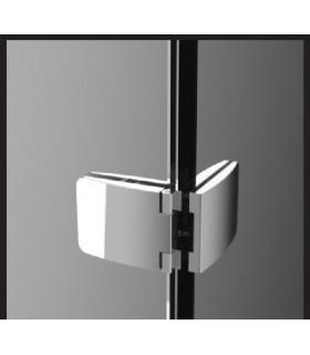 Charnière double pour porte en verre ouverture à 180°