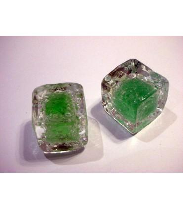 Poignée bouton glaçon vert
