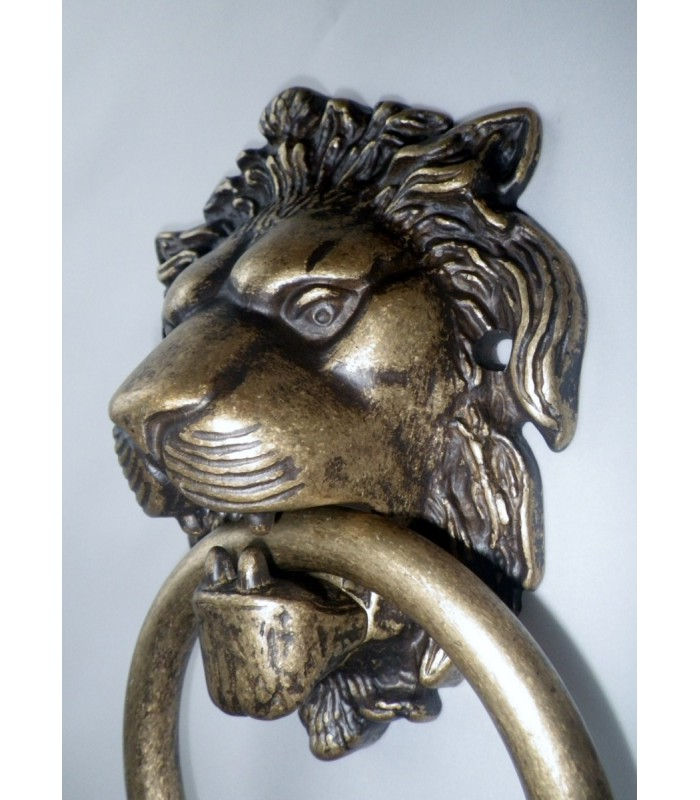 Heurtoir de porte tête de Lion bronze antique
