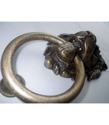 Heurtoir de porte tête de Lion bronze antique