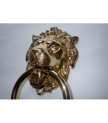 Heurtoir de porte tête de Lion laiton poli