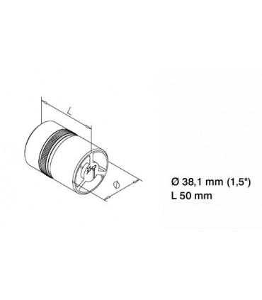 Raccord tube/tube pour Ø 38 mm technique