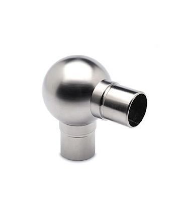 Raccord boule à 90° pour tube Ø 38 mm