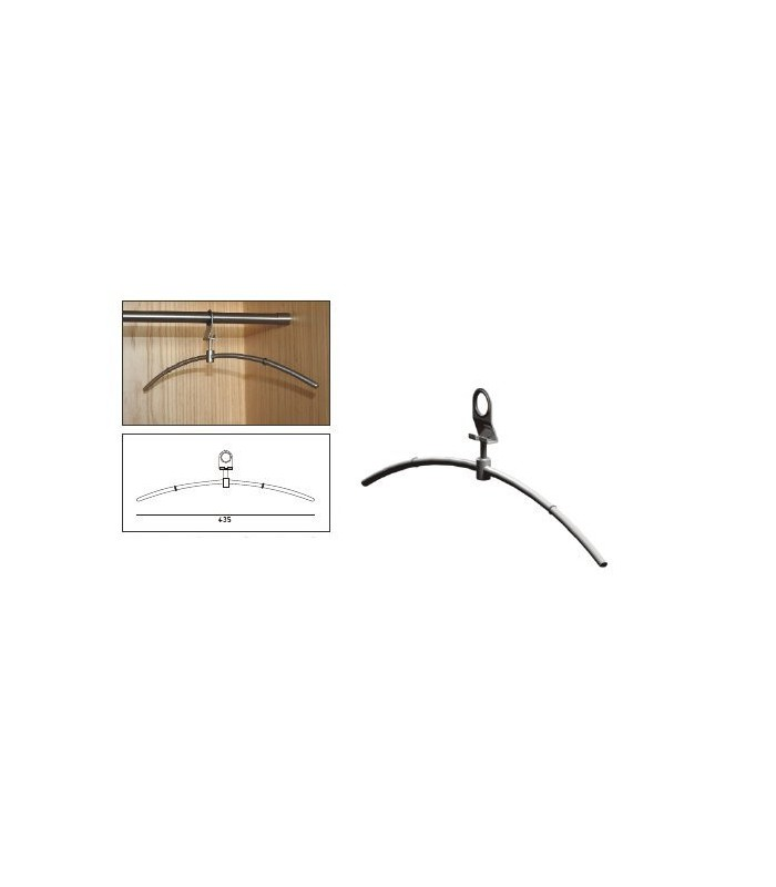 Cintre inox antivol simple
