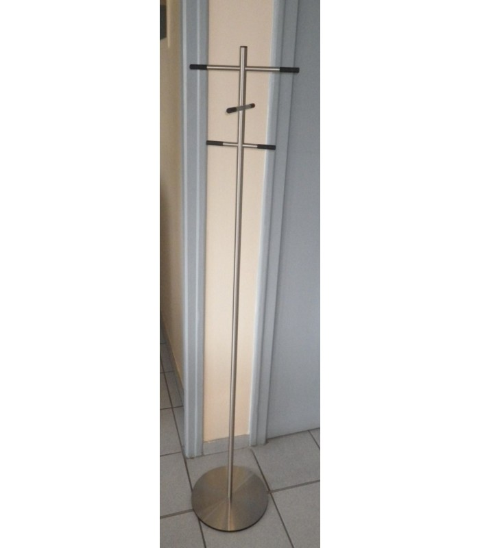 Porte manteaux contemporain en inox bross igs d co for Porte manteau contemporain