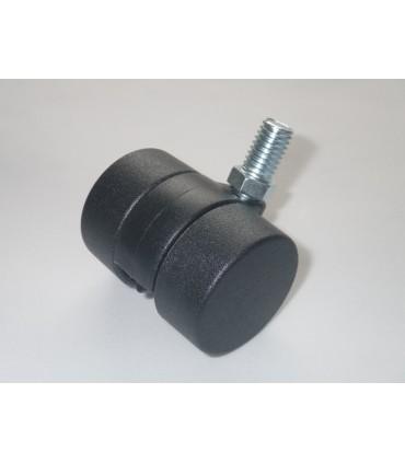 Roulette nylon noir diamètre 36 mm