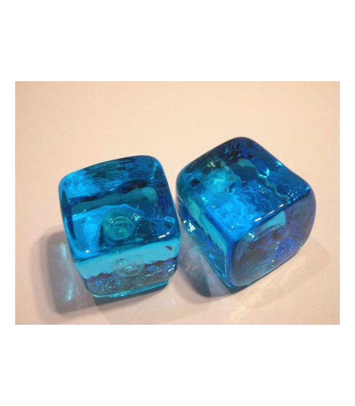 Poignée bouton glace aquamarine
