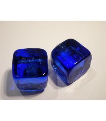 Poignée bouton glace bleu nuit
