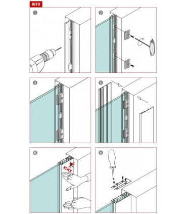Embout de finition pour profil verre fixe