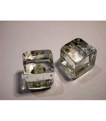 Poignée bouton glace transparent