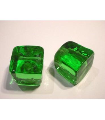 Poignée bouton glace vert