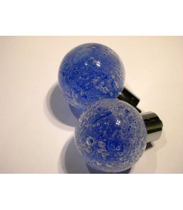 Poignée bouton bulle bleu nuit