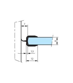 Joint d'étanchéité pour cloison en verre coupé en 2