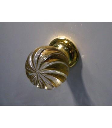 Poignée bouton spirale doré brillant