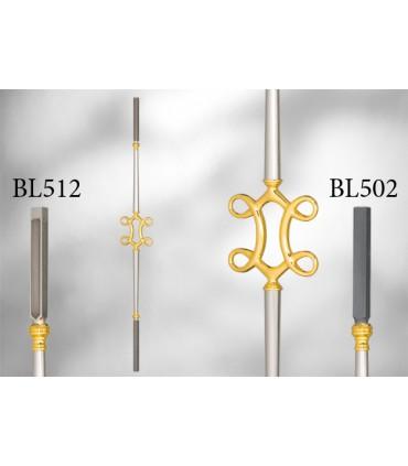 Balustres avec élément décoratif largeur 140 mm