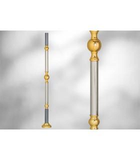 Poteaux sur embase ronde avec élément décoratif
