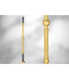 Poteau sur embase carré - Elément décoratif centrale double