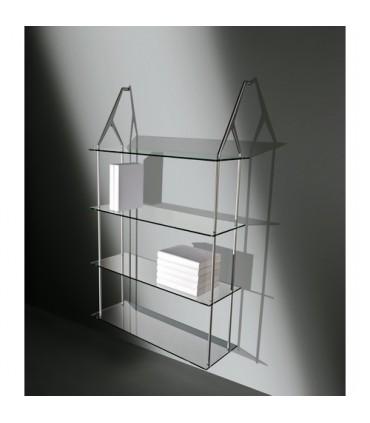 Set de deux supports série MS1438 par Confalonieri avec 4 étagères en verre