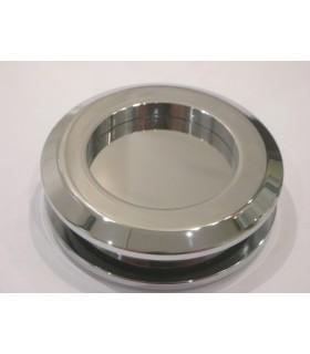 Poignée anneau borgne pour porte en verre