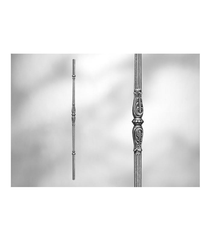 Balustre avec élément décoratif-manchon double centrale