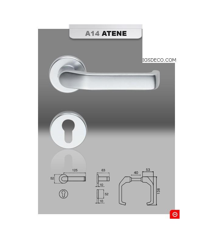 Poignée aluminium série Atene