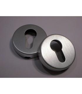 Rosace entrée de clé I en aluminium anodisé satiné