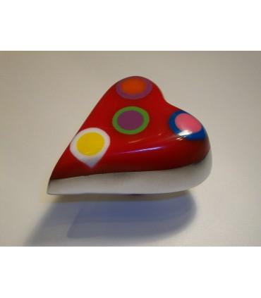 Poignée bouton coeur