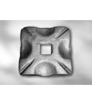 Cache scellement laiton pour barre carrée de 12 mm