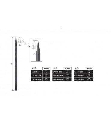 Barreaux forgés longueur 200 à 1200 mm