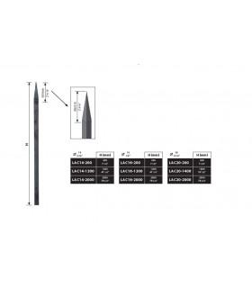 Barreaux forgés carrés ou ronds longueur 2000 mm