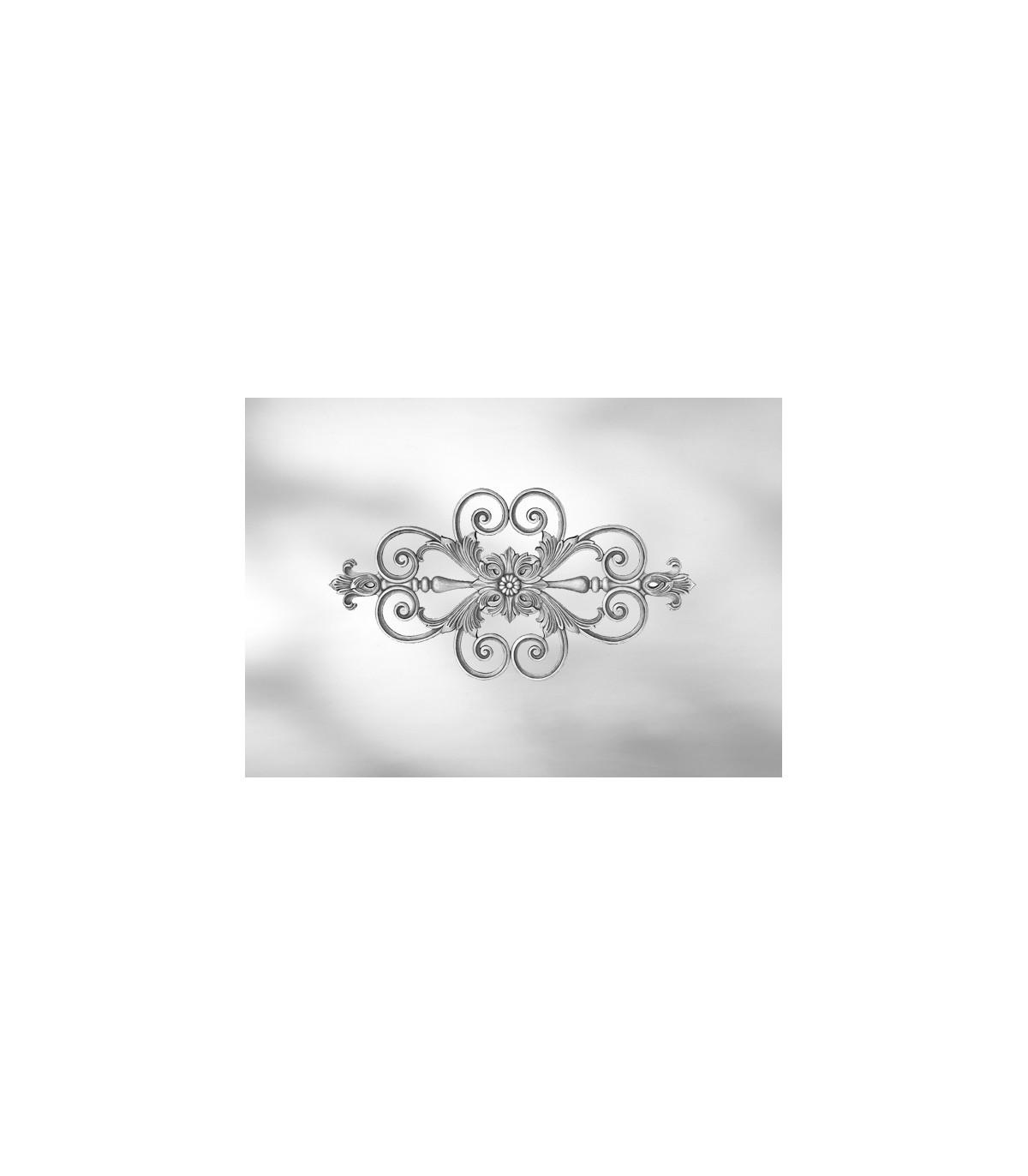 Feuille De Zinc Pour Cuisine elément décoratif simple face feuille d'acanthe